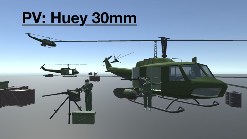 Huey 30mm And M2 Browning [PV]