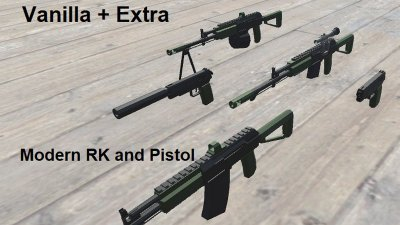 Modernised RK platform and pistol (Vanilla+ Extra)