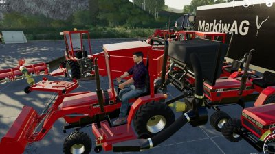 CASE IH 235 lawn Tractor and Car Hauler Mod Pack
