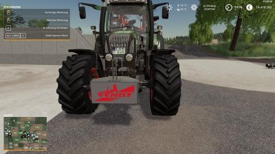 Fendt weight 800kg