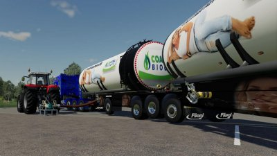 Fliegl Semi Roadtrain Biogas Trailer