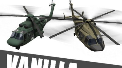 Vanilla+ - Transport Helicopter (Standalone, reassignable, camo)